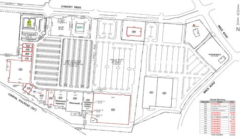 Columbus, OH Shopping Center Site Plan - Space Available